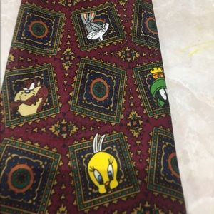 Men's looney tunes tie 1996